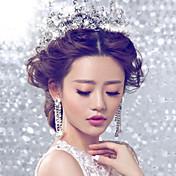 Mujer Diamantes Sintéticos Celada-Boda Ocasión especial Tiaras Flores 1 Pieza
