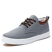 Hombre Zapatos Tela Primavera Verano Otoño Invierno Confort Vulcanizado Zapatos Con Cordón Para Casual Beige Gris Azul