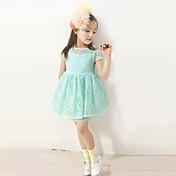 女の子の レース ドレス , 夏 半袖