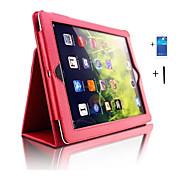 用途 ケース カバー スタンド付き オートオン/オフ フルボディー ケース 純色 PUレザー のために iPad 4/3/2