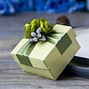 6 Piezas / Juego Holder favor-Cúbico Papel perlado Cajas de regalos Cajas de Regalos Sin personalizar