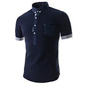 MEN Tシャツ ( コットンブレンド ) カジュアル ワイシャツカラー - 半袖