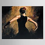 手描きの 人物Modern / 欧風 1枚 キャンバス ハング塗装油絵 For ホームデコレーション