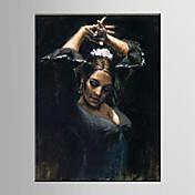 手描きの 人物欧風 / Modern 1枚 キャンバス ハング塗装油絵 For ホームデコレーション