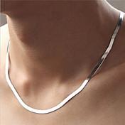 女性用 チェーンネックレス 円形 純銀製 ファッション シルバー ジュエリー のために パーティー 日常 カジュアル スポーツ 1個