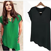 Camisetas ( Gasa )- Casual Manga Corta para Mujer