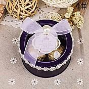 10 Piezas / Juego Holder favor-Cilindro Papel de tarjeta Cajas de regalos Cajas de Regalos Sin personalizar