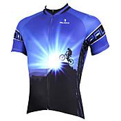 ILPALADINO Maillot de Ciclismo Hombre Manga Corta Bicicleta Camiseta/Maillot Tops Secado rápido Resistente a los UV Transpirable Bolsillo