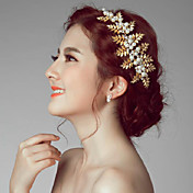 Mujer Aleación Perla Artificial Celada-Boda Ocasión especial Al Aire Libre Flores 1 Pieza