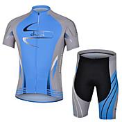 cheji® Maillot de Ciclismo con Shorts Hombre Manga Corta Bicicleta Camiseta/Maillot Shorts/Malla corta Sets de Prendas Secado rápido