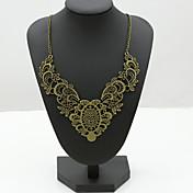 Dámské Prohlášení Náhrdelníky Křišťál Štras imitace Diamond 18K zlatá Módní Šperky