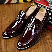 Hombre Zapatos de taco bajo y Slip-Ons Confort Innovador Zapatos formales Cuero Patentado Primavera Verano Otoño InviernoCasual Fiesta y