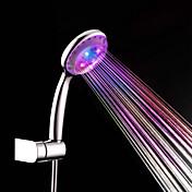Contemporáneo Ducha de mano Cromo Característica for  LED Efecto lluvia , Alcachofa de la ducha