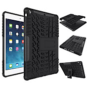 のために 耐衝撃 スタンド付き ケース バックカバー ケース ソリッドカラー ハード シリコン のために Apple iPad(2017) iPad Air 2 iPad Air