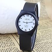 Hombre Reloj de Moda Cuarzo Caucho Banda Negro