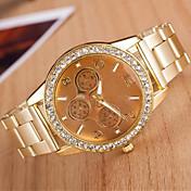 女性用 ファッションウォッチ クォーツ 合金 バンド 光沢タイプ シルバー ゴールド ローズゴールド