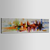 手描きの 抽象画 水平パノラマ,クラシック Modern トラディショナル 1枚 キャンバス ハング塗装油絵 For ホームデコレーション