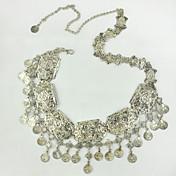 Nový ročník bohemia postříbřené šperky kovový pás pás