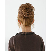 2015新しいファッションの合成弾性花嫁の髪のパンのヘアシニョンローラーヘップバーンのヘアピースヘア合成パン