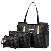 Ženy Na rameno Kabelka bag Soupravy Lakovaná kůže Celý rok Nakupování Ležérní Formální Soudek Zip Zlatá Černá Béžová Modrá Fialová