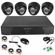 szsinocam®4chのDVRフルD1動き検出防犯ホームセキュリティキット600TVLナイトビジョンドームカメラ