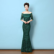 Mořská panna / trumpet krajní krajka délka krajka formální večerní šaty s krajkou