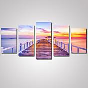 Paisaje Ocio Romamticismo Fotográfico Clásico,Cinco Paneles Horizontal Estampado Decoración de pared For Decoración hogareña