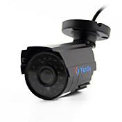 yanse® 1100tvl 2,8 mm de aluminio del metal de la cámara D / N del CCTV IR 24 LED de seguridad a prueba de agua con cable 6624cq