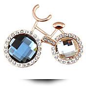 aguja de perforación de diamante de cristal broche broche de bicicletas