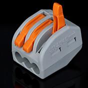 100pcs pct-213 400v / 4 kV / 32a conector universal 0.08-2.5mm² 0.08-4.0mm² 9-10mm cable único / multi longitud de pelado
