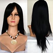 22inchレースフロント髪は有名人のスタイルの髪は女性のための100%の人間の毛髪モンゴルバージン毛ストレートヘアのかつらをかつらかつら
