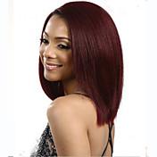 moderan slatko strana bang vino crvena boja srednje dužine kose perika sintetička