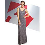 Trompeta / Sirena Cuello en V Hasta el Tobillo Encaje Baile de Promoción Evento Formal Vestido con Encaje por TS Couture®