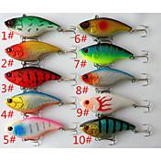 """10 個 ハードベイト ルアー ハードベイト バイブレーション 雑色 グラム/オンス,75 mm/3"""" インチ,硬質プラスチック 海釣り 一般的な釣り 流し釣り/船釣り"""