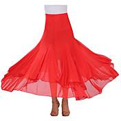 ボールルームダンス チュチュスカート 女性用 演出 クレープ ドレープ 1個 スカート 90