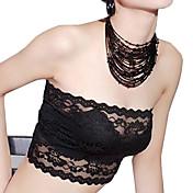女性のレースのかぎ針編みのパッドなしブラジャー