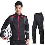Kingbike Maillot de Ciclismo con Mallas Hombre Manga Larga Bicicleta Chaqueta Pantalones/Sobrepantalón Camiseta/Maillot Sets de Prendas