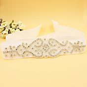 新しいサテンの結婚式/パーティー/イブニングサッシュ - ラインストーン/模造真珠の女性のサッシ
