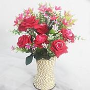 Seda / Plástico Orquídea / Rosas Flores Artificiales