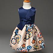 Dívka je Léto Šaty Polyester Modrá