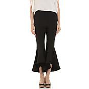 婦人向け ストリートファッション ブーツカット パンツ,ポリエステル 伸縮性なし