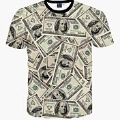 メンズ スポーツ カジュアル/普段着 Tシャツ プリント コットン 半袖