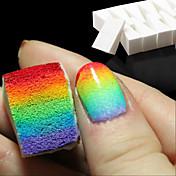 8pcs uñas uñas herramientas de la técnica de gradiente esponjas suaves para atenuación del color de la manicura de uñas y accesorios de