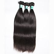 El pelo recto brasileño 3 paquetes 300g total virginal virginal extensiones de la armadura del pelo humano