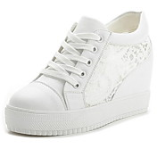 レディース 靴 レザーレット 春 夏 秋 フラットヒール プラットフォーム 編み上げ 用途 カジュアル ホワイト ブラック
