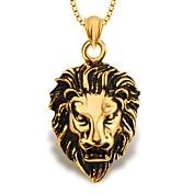 león de la joyería de moda colgante de animales 18k chapado en oro los hombres / mujeres p30137 regalo