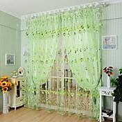 ワンパネル 田舎風 花/植物 画像参照 リビングルーム ポリエステル シアーカーテンシェード