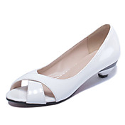 Sandály-Lakovaná kůže-S otevřenou špičkou / Otevřená špička-Dámská obuv-Černá / Modrá / Růžová / Bílá-Kancelář / Šaty / Běžné-Nízký