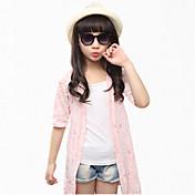 女の子の コットン トレンチコート,夏 グリーン / ピンク / ホワイト
