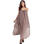 Haoduoyi 女性 ディープVネック ノー・スリーブ マキシ丈 ドレス-16851B633
